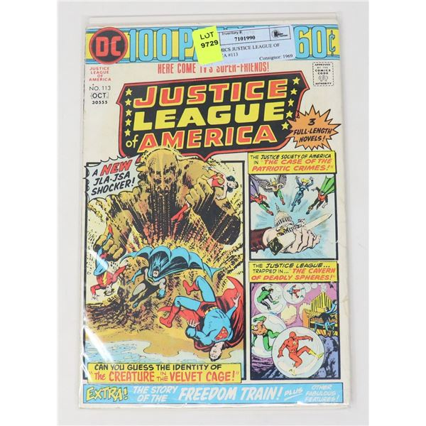 DC COMICS JUSTICE LEAGUE OF AMERICA #113