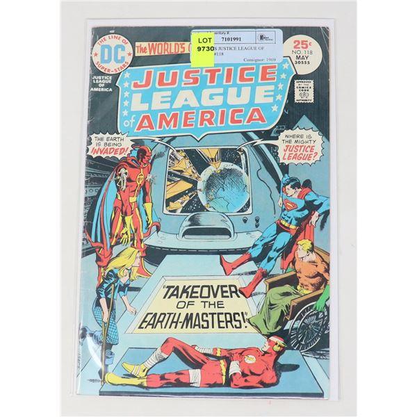 DC COMICS JUSTICE LEAGUE OF AMERICA #118