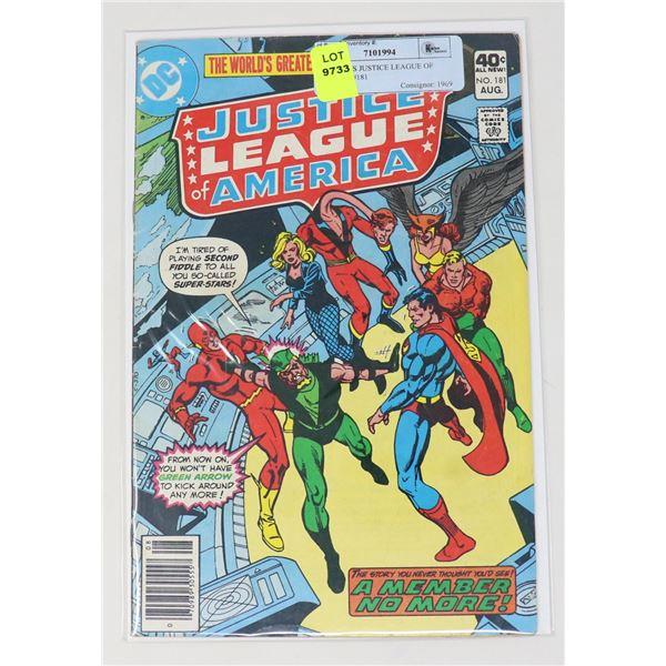 DC COMICS JUSTICE LEAGUE OF AMERICA #181