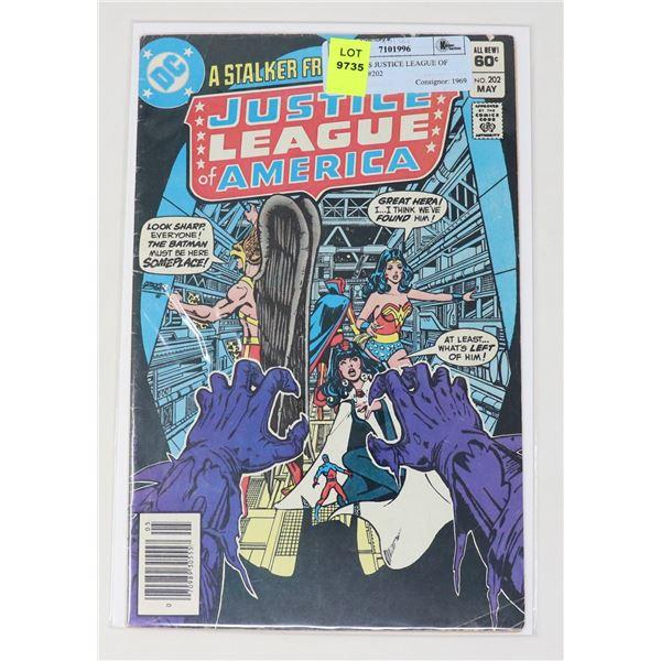 DC COMICS JUSTICE LEAGUE OF AMERICA #202