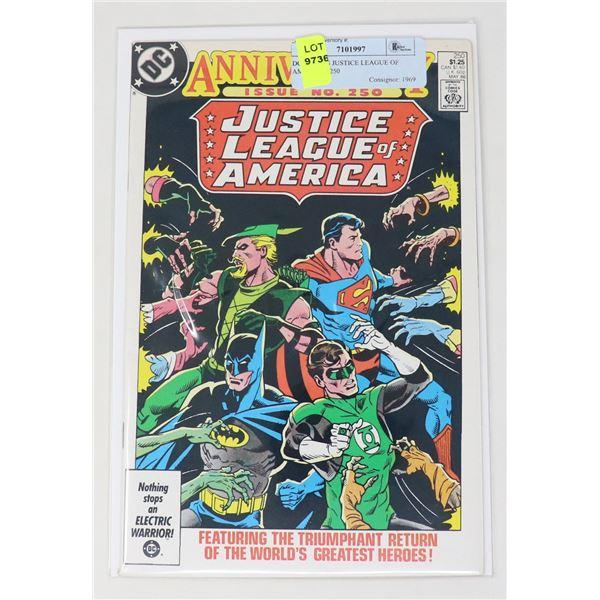 DC COMICS JUSTICE LEAGUE OF AMERICA #250