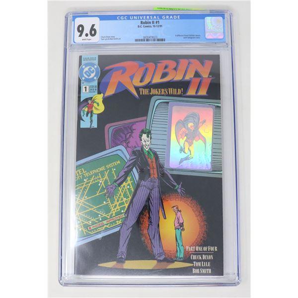 CDC GRADED 9.6 DC COMICS ROBIN II #1