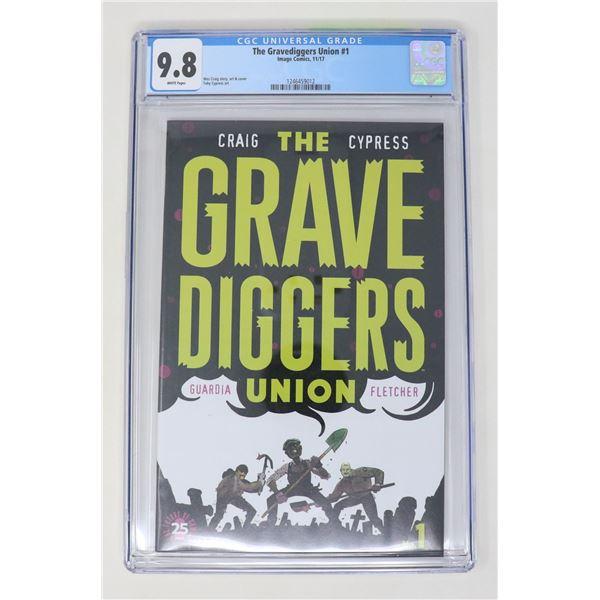 CGC GRADED 9.8 IMAGE COMICS GRAVE DIGGERS #1