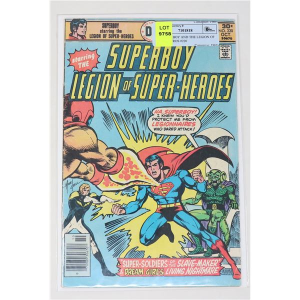 DC SUPERBOY AND THE LEGION OF SUPER HEROS #220