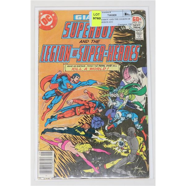 DC SUPERBOY AND THE LEGION OF SUPER HEROS #231