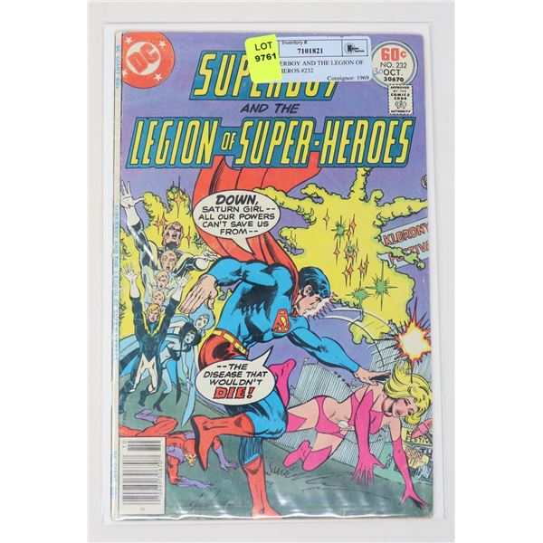 DC SUPERBOY AND THE LEGION OF SUPER HEROS #232