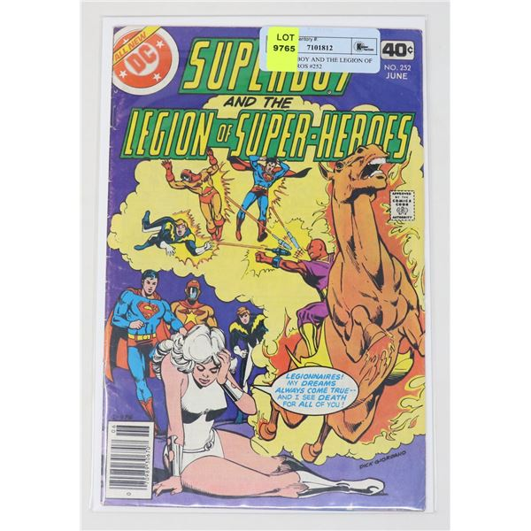 DC SUPERBOY AND THE LEGION OF SUPER HEROS #252