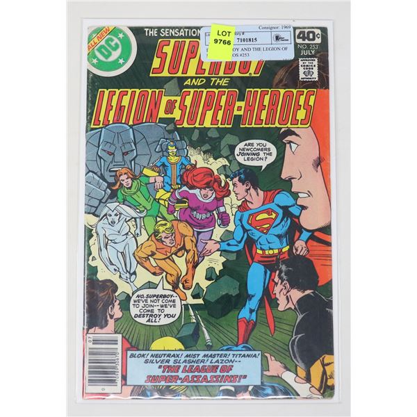DC SUPERBOY AND THE LEGION OF SUPER HEROS #253