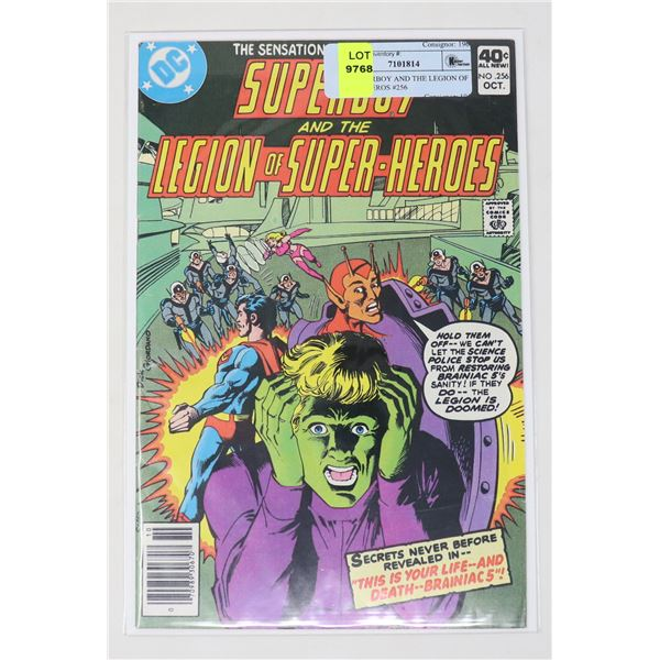 DC SUPERBOY AND THE LEGION OF SUPER HEROS #256