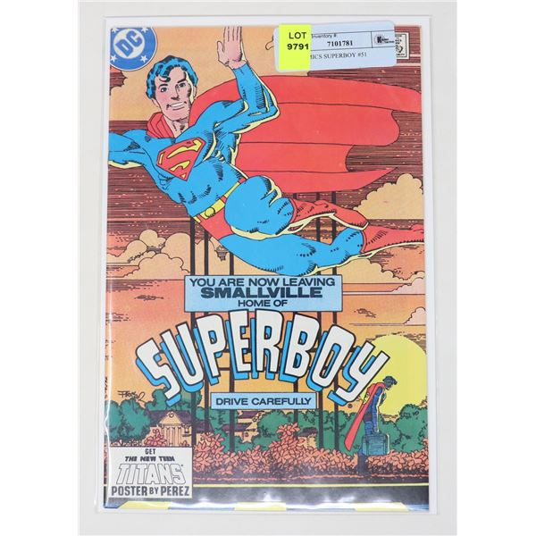 DC COMICS SUPERBOY #51