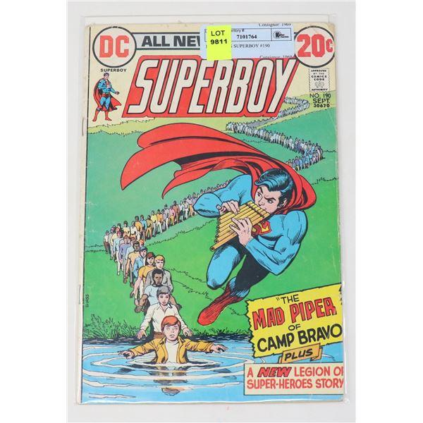 DC COMICS SUPERBOY #190