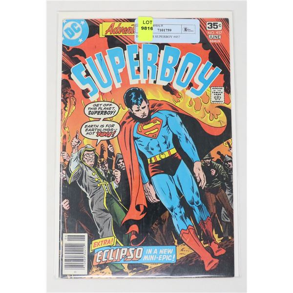DC COMICS SUPERBOY #457