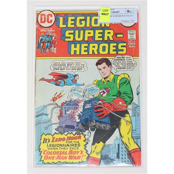 DC LEGION OF SUPERHEROS 20CENT #4