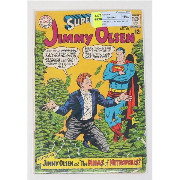 DC JIMMY OLSEN SUPERMANS PAL 12 CENT #108
