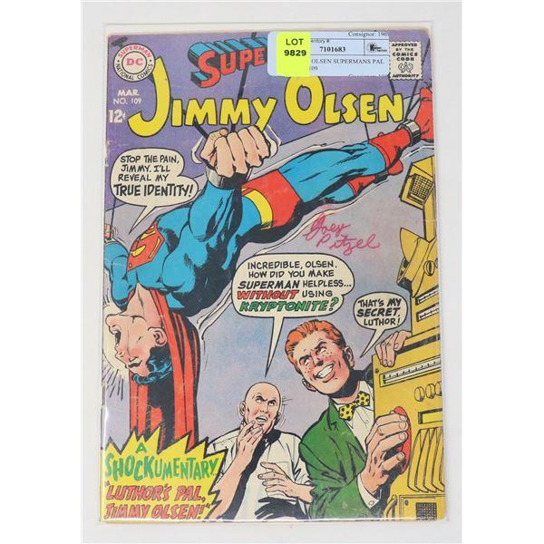DC JIMMY OLSEN SUPERMANS PAL 12 CENT #109