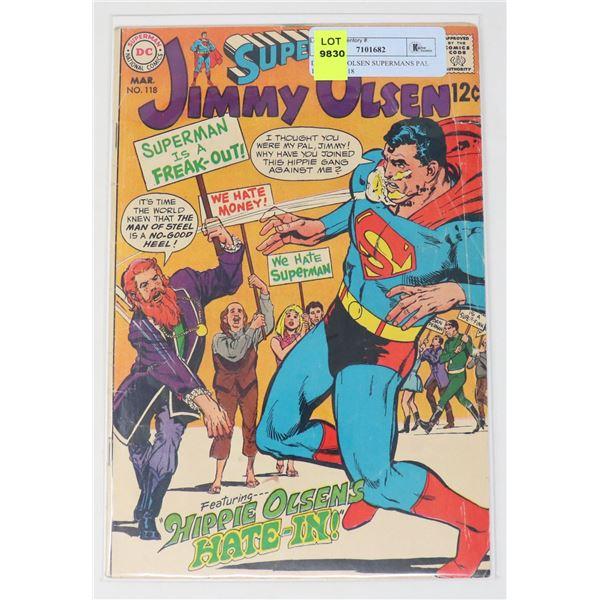 DC JIMMY OLSEN SUPERMANS PAL 12 CENT #118