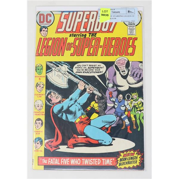 DC SUPERBOY STARRING LEGION OF SUPERHEROS #198