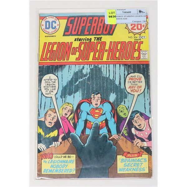DC SUPERBOY STARRING LEGION OF SUPERHEROS #204