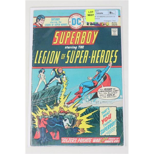 DC SUPERBOY STARRING LEGION OF SUPERHEROS #210