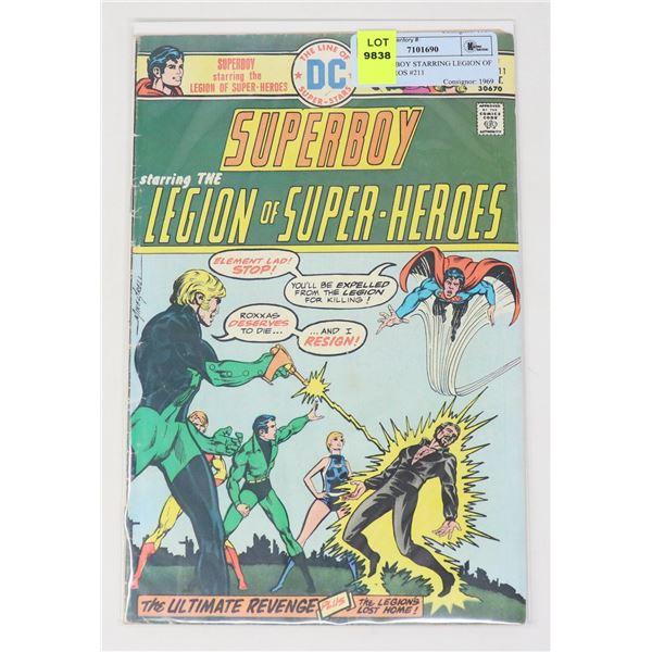 DC SUPERBOY STARRING LEGION OF SUPERHEROS #211