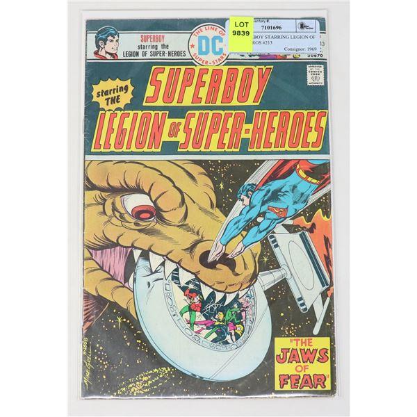 DC SUPERBOY STARRING LEGION OF SUPERHEROS #213