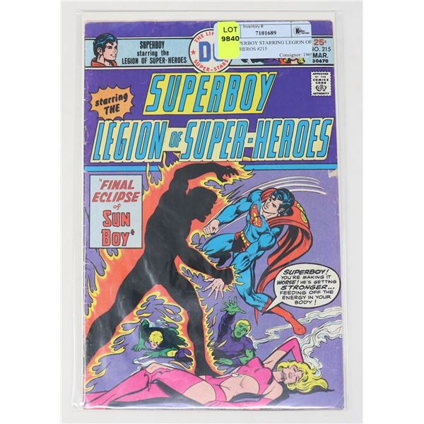 DC SUPERBOY STARRING LEGION OF SUPERHEROS #215