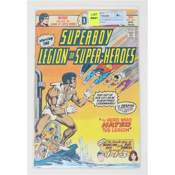DC SUPERBOY STARRING LEGION OF SUPERHEROS #216