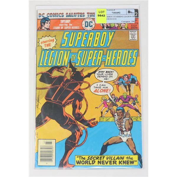 DC SUPERBOY STARRING LEGION OF SUPERHEROS #218