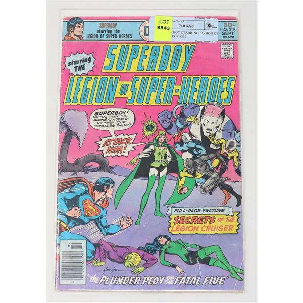 DC SUPERBOY STARRING LEGION OF SUPERHEROS #219