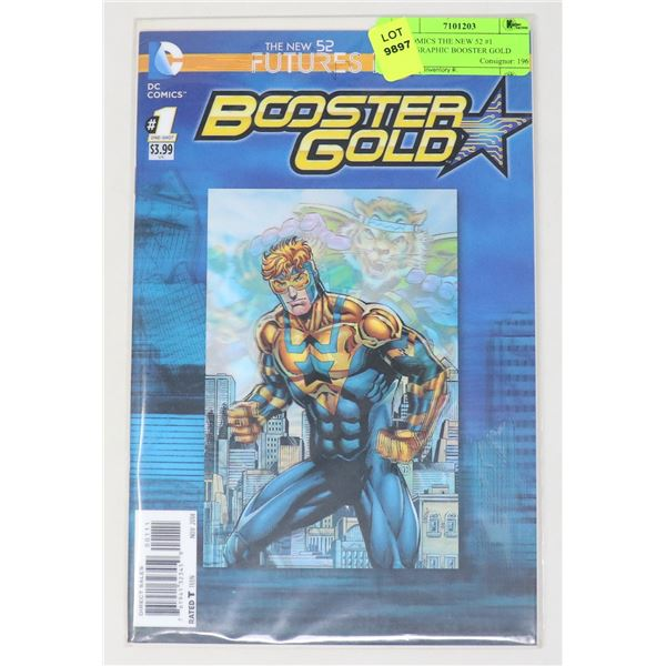 DC COMICS THE NEW 52 #1 HOLOGRAPHIC BOOSTER GOLD