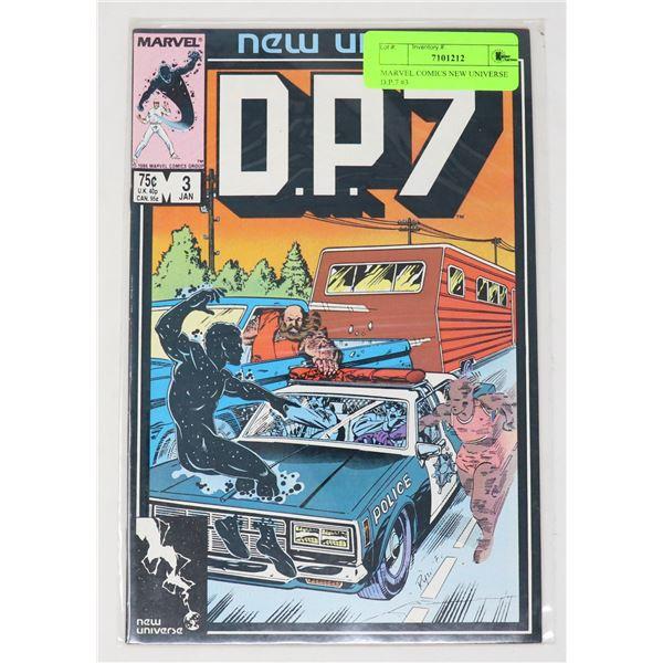 MARVEL COMICS NEW UNIVERSE D.P.7 #3