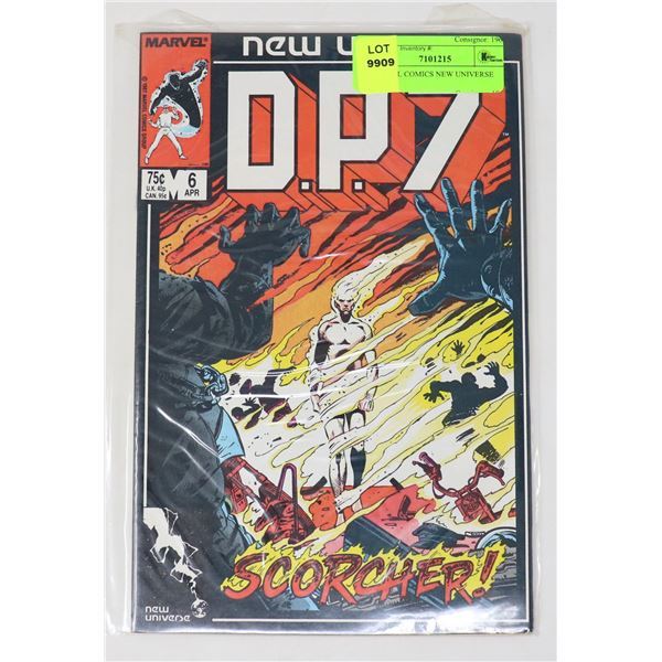 MARVEL COMICS NEW UNIVERSE D.P.7 6