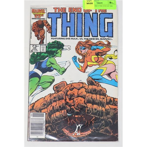 MARVEL COMCS THE END OF THE THING #36