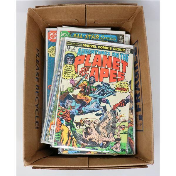 BOX WITH 38 VINTAGE COMICS