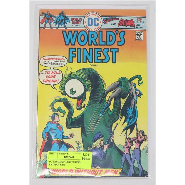 DC WORLDS FINEST SUPERMAN AND BATMAN # 233