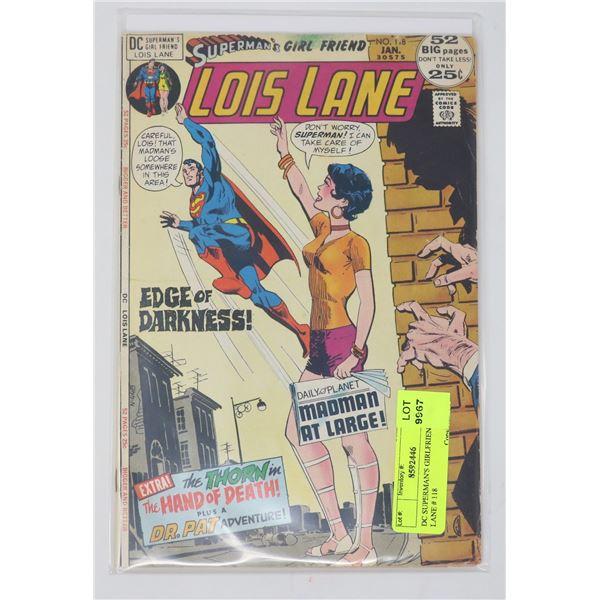 DC SUPERMAN'S GIRLFRIEND LOIS LANE # 118