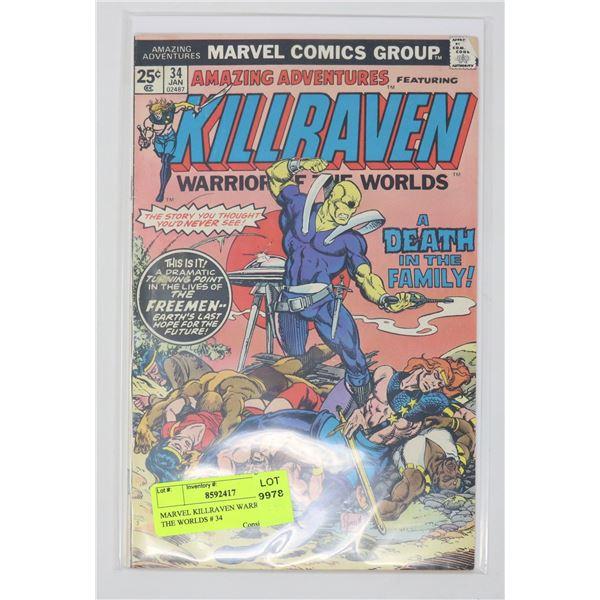 MARVEL KILLRAVEN WARRIOR OF THE WORLDS # 34