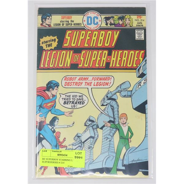 DC SUPERBOY STARRING LEGION OF SUPERHEROES # 214