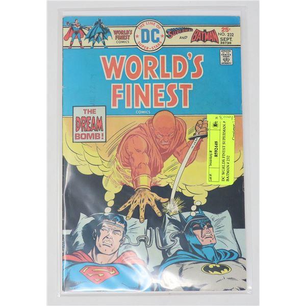 DC WORLDS FINEST SUPERMAN AND BATMAN # 232
