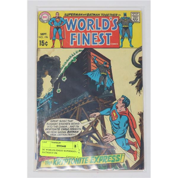 DC WORLDS FINEST SUPERMAN AND BATMAN # 196