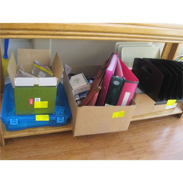 LG LOT OF MISC. OFFICE SUPPLIES, ETC.