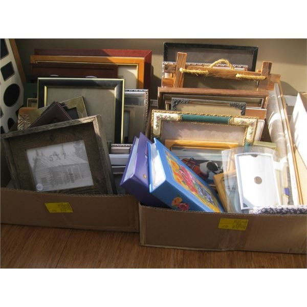 2 BOXES OF MISC. PICTURE FRAMES