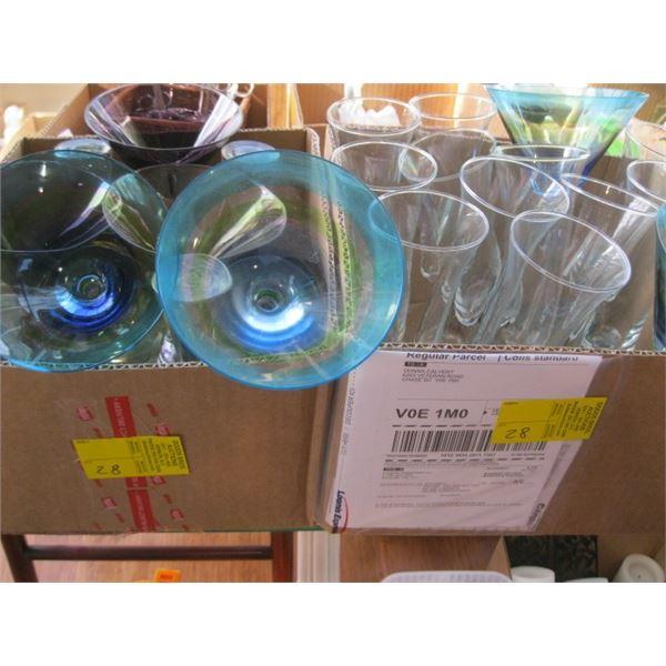 2 BOXES OF ASST. DAQUIRI GLASSES, ETC.