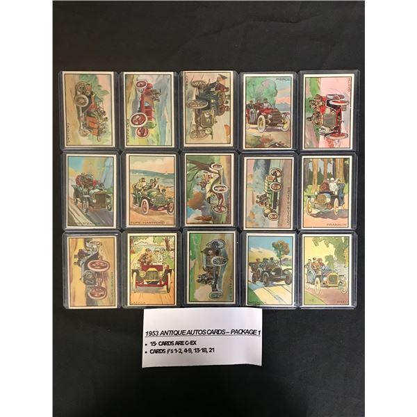 1953 ANTIQUE AUTOS TRADING CARDS