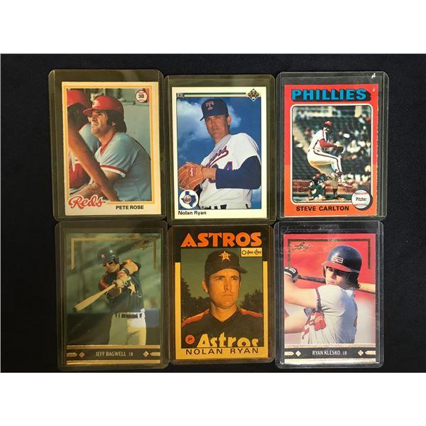 VINTAGE MLB BASEBALL STAR CARD LOT