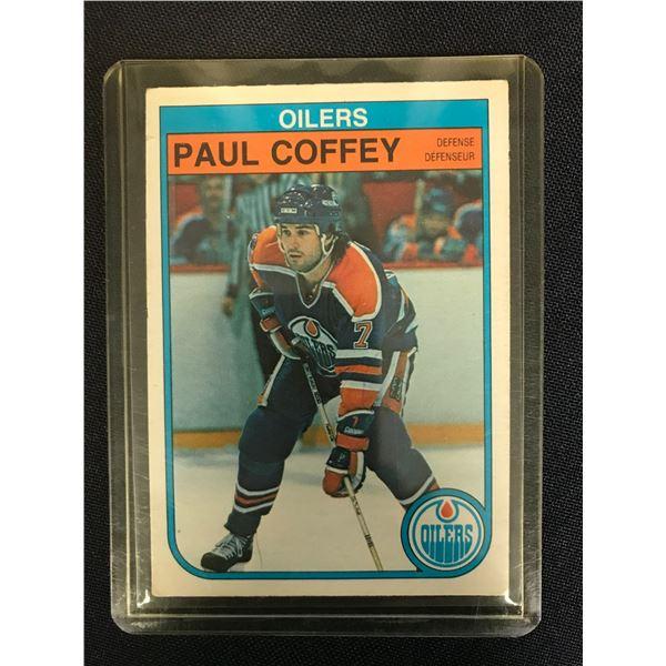 1982 OPC PAUL COFFEY ROOKIE CARD