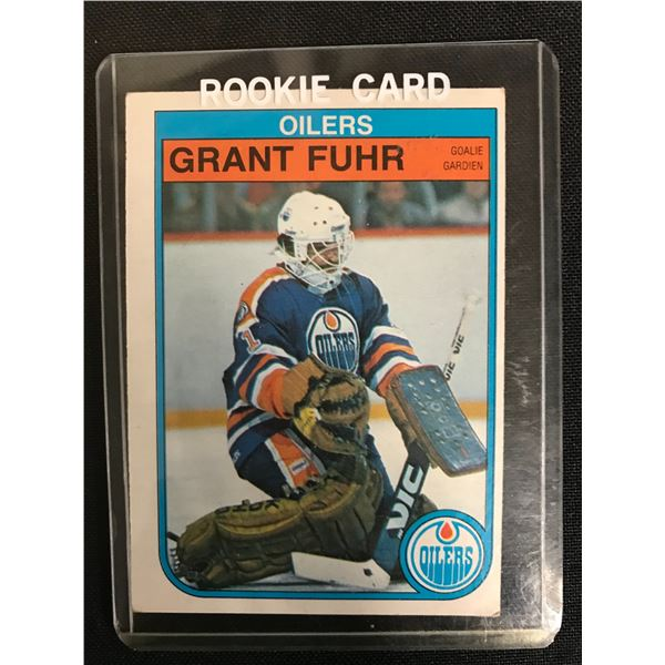 1982 OPC GRANT FUHR ROOKIE CARD