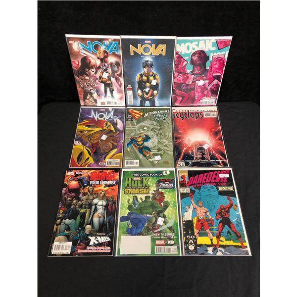 VARIOUS MARVEL AND DC SUPERHERO COMIC LOT