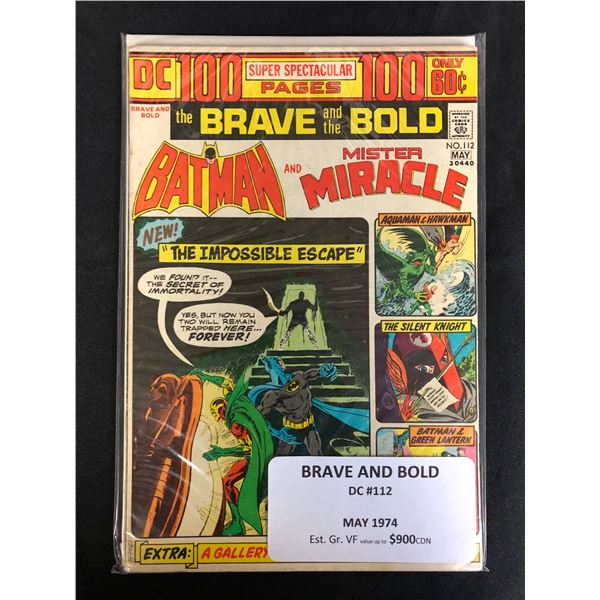 DC COMICS BRAVE AND THE BOLD NO. 112