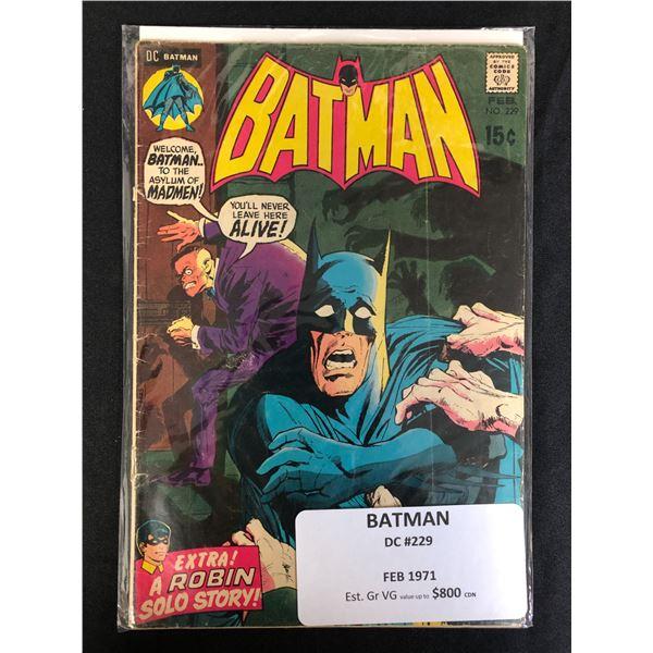DC COMICS BATMAN 229